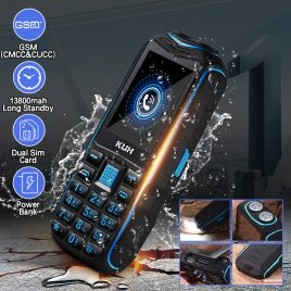 "KUH 2.6"" 13800mah Torch Big Speaker Big Screen Mobile Phones Long Standby Feature Phone"