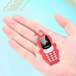 Bakeey V5 0.66 Inch 350 mAh bluetooth Dialer MP3 Magic Voice Dual SIM Card Dual Standby Smallest Mini Card Phone